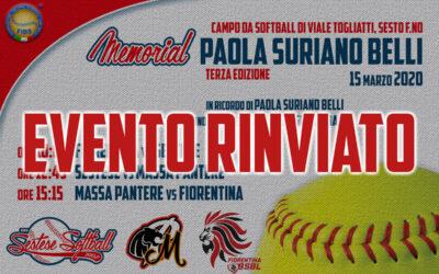 15 Marzo 2019Terzo Memorial Paola Suriano Belli